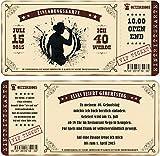 Einladungskarten zum Geburtstag als mit Abriss-Coupon im Country Style, Cowboy 60 Stück