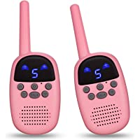 omzer Walkie Talkies for Kids, Fun Gifts for 5-8 Years Old Child Girls with 9 Channels FRS GMRS Two Way Radio Long Range…