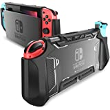 mumba Dockable TPU Grip Protective Cover Case for Nintendo Switch and Joy-Con Controller (Black)