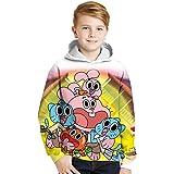 The Amazing World of Gumball Pullover Estilo retro con capucha for niños elegante de capas calientes de los muchachos más fin