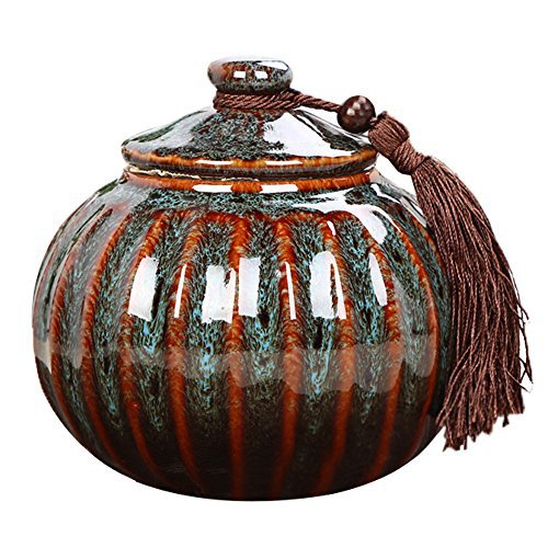 WJDX5T Keramik Echthaar Asche Verbrennung–Erwachsene Mini Souvenir Beerdigung Urne–Handarbeit–Geeignet für Eine Kleine Menge Verbrennung Bleibt–Display Begräbnis Urne zu Hause Oder im Büro -