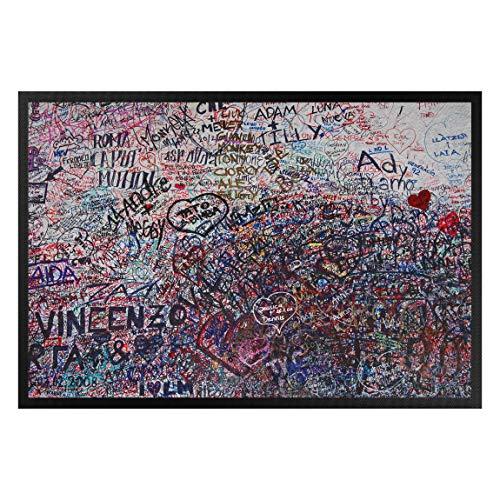 Verona Tür Matte (Bilderwelten Fußmatte Gummi Türvorleger Innen - Außenbereich Verona Romeo - Julia 40 x 60 cm)