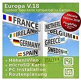 Europa V.18 - Profi Outdoor Topo Karte Kompatibel zu Garmin GPSMap 62, GPSMap 62s, GPSMap 62sc, GPSMap 62st, GPSMap 62stc