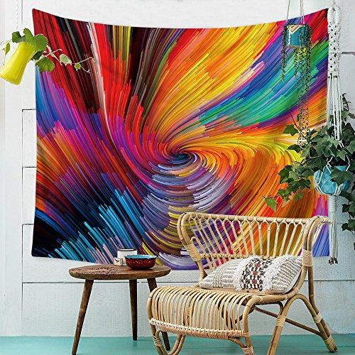 Rainbow tapiz de, hypnotischen regenbogenfarbigen Vortex hypnotischen Efecto óptico Illusion psicodélicas Impresión,...