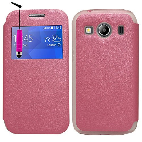 VCOMP Vista dal Guscio Cover Case Flip Compatibile per Samsung Galaxy Ace 4Style LTE SM-G357FZ