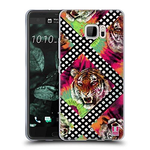 Head Case Designs Tiger Batik Kravatte Und Vermaschte Drucke Soft Gel Hülle für HTC U Ultra / Ocean Note