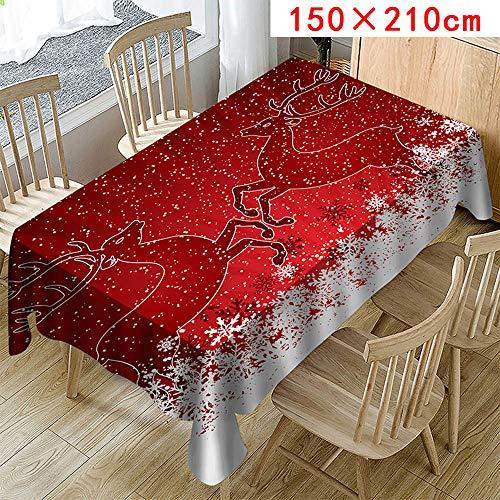 Tischdecke X-Mas 3D Druck Weihnachtlichen Weihnachten Tischläufer Modern Frühling Tischwäsche Rot Tischdeko Tischfahne Tischtuch Christmas Tischband (Holiday Charakter Kostüm)