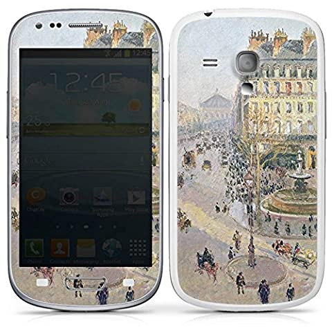 Samsung Galaxy S3 mini Case Skin Sticker aus Vinyl-Folie Aufkleber Camille Pissarro The Avenue de L