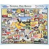 """Jigsaw Puzzle 1000 Pieces 24""""X30""""-National Park Badges"""