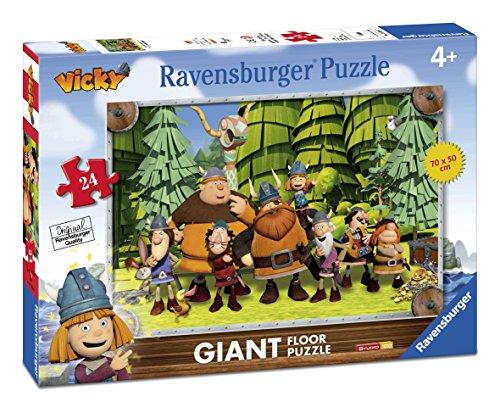 Ravensburger-05462-Wickie-und-starke-Mnner-24-Teile-Bodenpuzzle-fr-Kinder