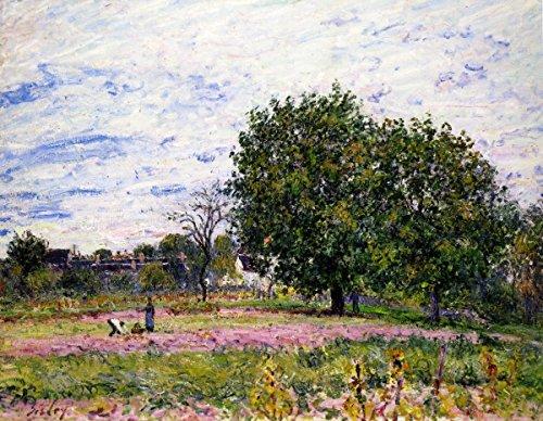 odsanart-508-cm-x-4064-cm-1-pezzo-arte-nouveau-paesaggi-alberi-di-noce-primi-giorni-di-ottobre-di-tr