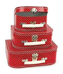 Egmont Toys Case Set with Dots (3 Pieces, Red)