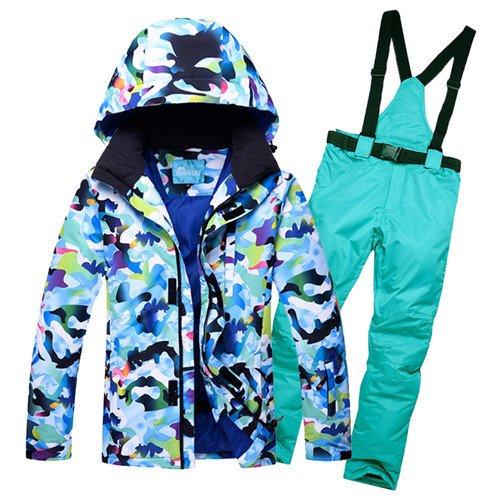 YFF Männer Ski Anzug Jacke Hose Snowboard thermische Sport tragen Wasserdicht Winddicht, Farbe 5, L