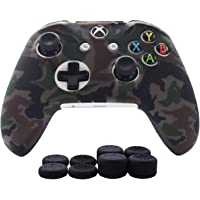 Xbox One X Controller Grips,Cover Skin for Xbox One/Xbox One S Controller Hikfly Silicone Protector Case Faceplates Kits…