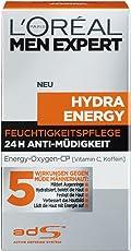 L'Oreal Men Expert Hydra Energy 24H Anti Müdigkeit, Feuchtigkeitspflege für den Mann mit Vitam C, 50 ml