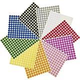 3/ 8 Zoll runde Punkt Aufkleber Sticker Farbcodierschilder, 10 verschiedene farbige Punkt Etiketten, 10 Blatt