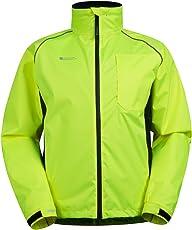 Mountain Warehouse Adrenaline Winddichte Herren Fahrradjacke- Atmungsaktiv, Reflektierend, Leucht-Print, verstellbarer Saum, Regenmantel - Für Radfahren, Joggen und Wandern