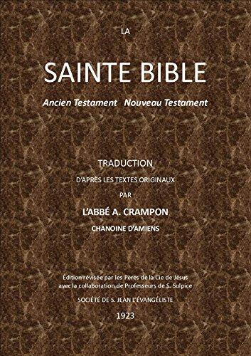LA SAINTE BIBLE: ANCIEN TESTAMENT  NOUVEAU TESTAMENT par AUGUSTE CRAMPON