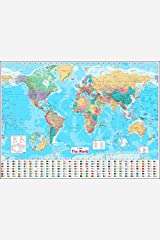 Collins World Wall Paper Map Map