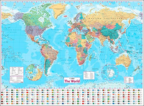 Collins World Wall Paper Map por Collins Maps