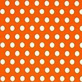 Fabulous Fabrics Baumwolljersey große Punkte orange —
