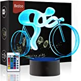 LED Night Lights 3D Illusion Lamp 16 Colours Changing Sleeping Lighting Funny Cycling Gift Creative Decoration Ideal Art and