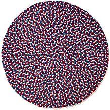 Sainyukta: redonda: Púrpura loco Kids Alfombra de Bolas suave colorido y seguro (70cm / 2' 3.5'')
