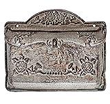 Briefkasten Wandbriefkasten Eisen antik Stil Landhausstil Shabby grau iron