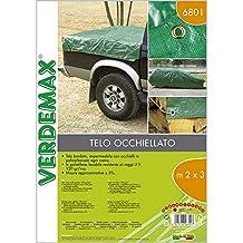 Verdemax 680412G/m² 4x 5m lona impermeable con ojales–verde