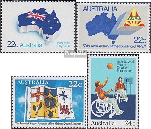 Prophila Collection Australien 740,747,748I,766 (kompl.Ausg.) 1981 Feiertag, APEX, Elisabeth, Behinder (Briefmarken für Sammler) Basketball/Volleyball/Handball