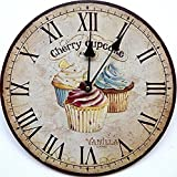Tinas Collection Wanduhr im Cupcake Design, 30 cm Ø