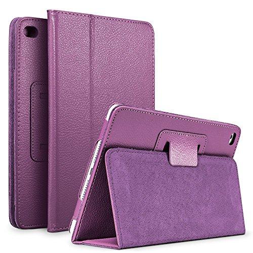 SLEO Huawei Mediapad M3 Lite 10 Hülle Case - mit Auto Sleep / Wake Up Funktion und Standfunktion - Ultra Dünn Leder Schutzhülle Tasche Perfekt für Tablet PC Huawei M3 Lite 10 Zoll - Lila (Lila Tablet)