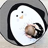 Kinder Kinderzimmer Teppich Kinder Spielmatte Runde Teppich Cartoon Pinguin Design Home Room Decor 37,4