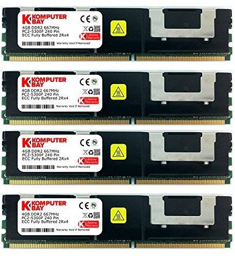 Komputerbay - Modulo memoria RAM 16 GB (4 x 4 GB), 667 MHz, DDR2, FBDIMM