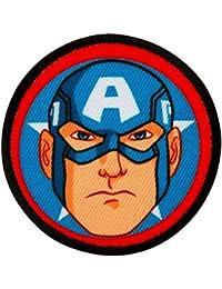 Avengers–Captain America Button–Parche para planchar bordados Patch–Aprox. 6cm