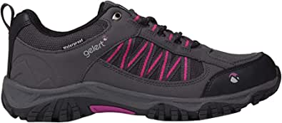Gelert Womens Horizon Low Waterproof Walking Shoes Lace Up