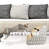 #1: Pets Empire Cat Scratcher Lounge, Cat Scratching Board Cat Scratching Pad Cat Scratcher Cardboard with Ringing Bell Balls with Catnip, Perfect Interactive Toy for Your Pet Cat