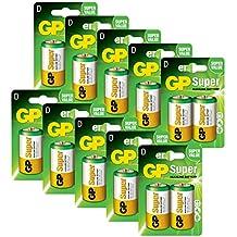 GP Batteries pilas D/LR20 Super Alcalinas (Pack de 20)