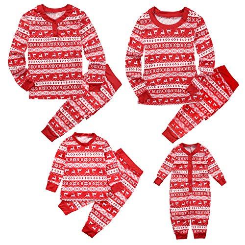- 615x3rEMi0L - Puseky Family Matching Christmas Pyjamas Set Dad Mom Kids Baby Sleepwear Outfits