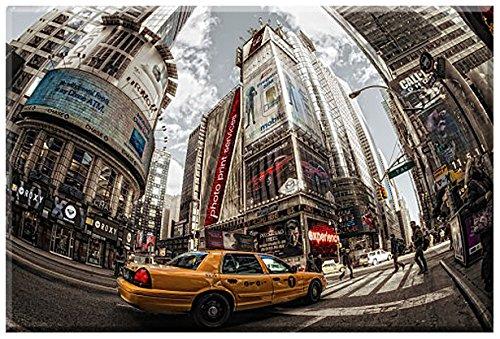 Times Square Sequel, New York Leinwandfertigbild von Dr.Michael Feldmann, Grösse 100 cm x 67 cm, Digitaldruck Künstlerleinwand gedruckt, Keilrahmen, Einzelanfertigung nach Kundenwunsch, New York Bild, Manhattan, USA, Keilrahmenbild fertig zum Aufhängen
