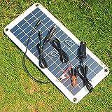 PerGrate Chargeur solaire de la batterie du panneau solaire 12V à 5V 20W pour l'alimentation d'énergie de caravane de bateau de voiture