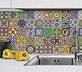 Wandtattoo Mexikanische Talavera Fliesenfarben Küche Renovieren Ideen (Packung mit 48) - 10 x 10 cm