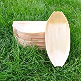 Large Bamboo Wooden Boat 25x11cm (50pack), Perfect for Party, Banquet (50)