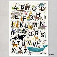 ABC Póster alfabeto Letras Póster habitación de los Niños