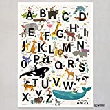 ABC Poster Alphabet Buchstaben Plakat Kinderzimmer