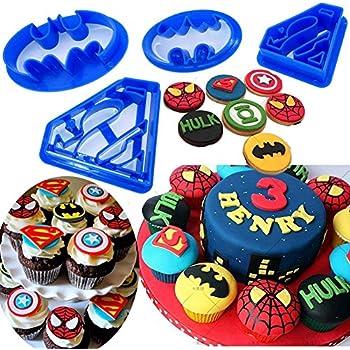 Super Heroes 010 cup cake ou gâteau décoration fondant Cookie Cutters