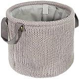 LOMOS® Panier décoratif aspect tricot avec deux anses (H 25cm/l 29cm)