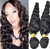 Meylee Postiches 8 ~ 30 pouces 6 a brésilien Loose Wave, Pack de 3 (longueur mixte), 100 % non transformés vierge de cheveux humains, 300g, Total(100g Each), couleur naturelle , 20 22 24