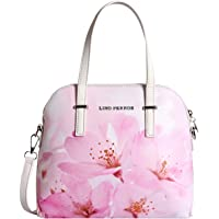 Lino Perros Womens Pink Synthetic Leather Satchel