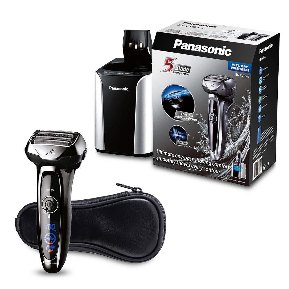 Panasonic ES-LV95 Folienrasierer mit flexiblem 2D-Scherkopf, Barttrimmer, mit Reinigungsstation